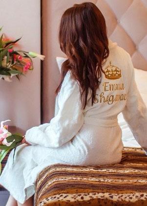 Женские махровые халаты Casual