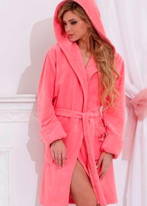 Женские махровые халаты С капюшоном серии Comfort