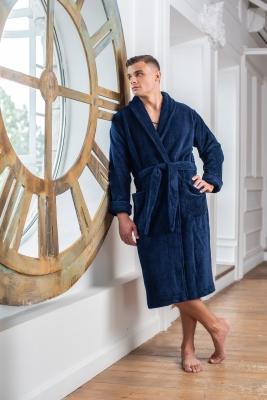 Мужские бамбуковые халаты  Бамбуковый халат серии Premium без капюшона