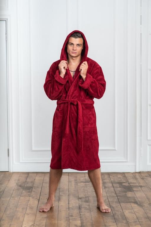 Мужские бамбуковые халаты  С капюшоном серии Premium