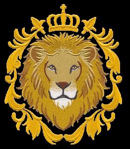 Рисунок для вышивки Лев цветной