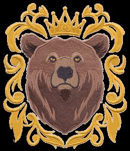 Рисунок для вышивки Медведь цветной