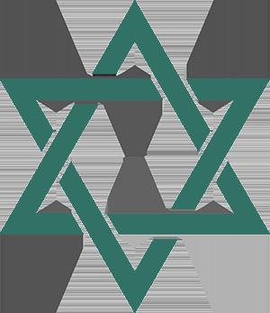Рисунок для вышивки Звезда Давида