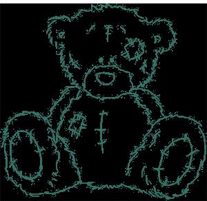 Рисунок для вышивки Тедди медведь