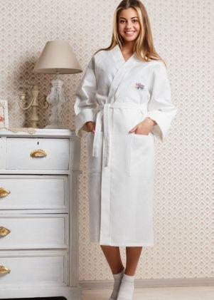 Женские вафельные халаты Casual