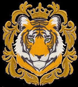 Рисунок для вышивки Тигр цветной
