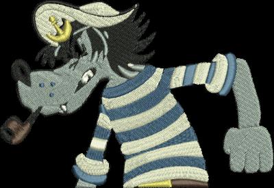 Рисунок для вышивки Морской волк
