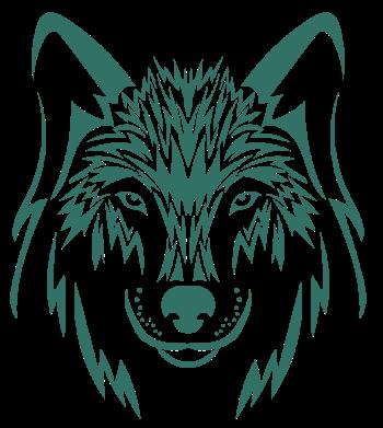 Рисунок для вышивки волк 3